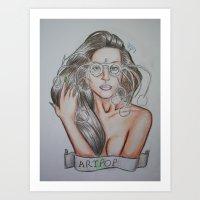 artpop Art Prints featuring ARTPOP by  Can Encin
