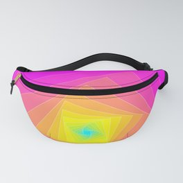 Magenta, Yellow, and Cyan Squares Fanny Pack