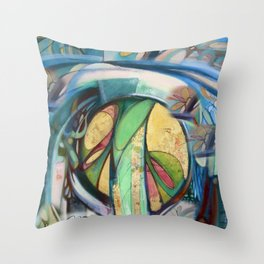 Peace Treaty Mandala Throw Pillow