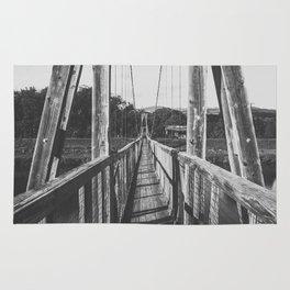 Black and White Bridge - Kauai, Hawaii Rug