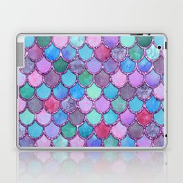 Colorful Pink Glitter Mermaid Scales Laptop & iPad Skin