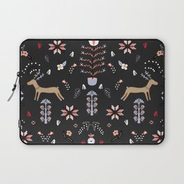 Lithuanian folklore stories (Black background) Laptop Sleeve