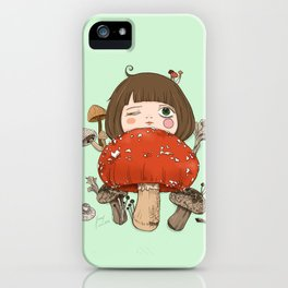 Mushroom girl iPhone Case