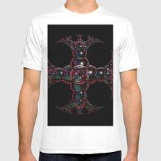 Symbolic Celtic Cross Mens Fitted Tee MEDIUM White