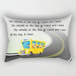 Wheels on the Bus Rectangular Pillow