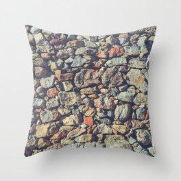 Cobblestones Wall Texture Throw Pillow