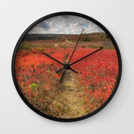 Autumn Huckleberry Trail Wall Clock