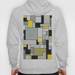Random Concrete Pattern - Yellow, Blue, Grey Hoody