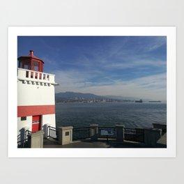 Lighthouse and light air Art Print