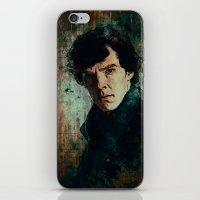 sherlock iPhone & iPod Skins featuring Sherlock by Sirenphotos