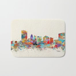 toledo ohio skyline Bath Mat