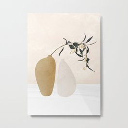Couple Of Vases Metal Print