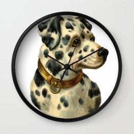 Vintage dalmation Wall Clock