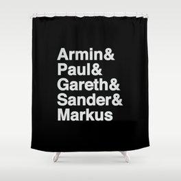 Trance Kings, Armin, Paul, Gareth, Sander and Markus  - Designed for Trance lovers Shower Curtain