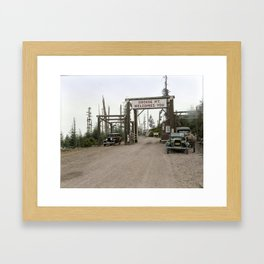 Entrance on the road to Grouse Mountain, Vancouver, 1929 Framed Art Print