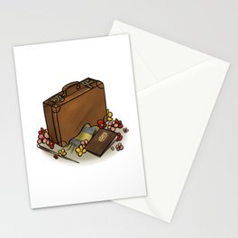 Magical suitcase Stationery Cards