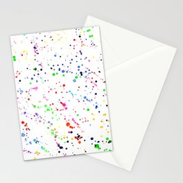 Joy splatters || watercolor Stationery Cards