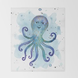 Nursery Octopus Throw Blanket