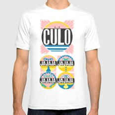 Culo MEDIUM Mens Fitted Tee White