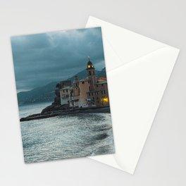 The bay of Camogli by night Stationery Cards