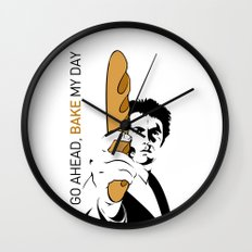 Go ahead, bake my day Wall Clock