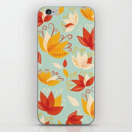 Whimsical Abstract Colorful Lily Flower Pattern iPhone Skin