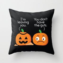Gourd Riddance Throw Pillow