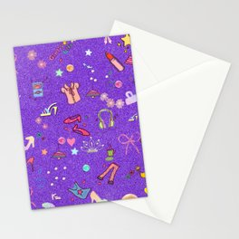girls Life, lilac Stationery Cards