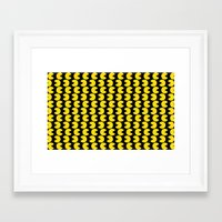 pac man Framed Art Prints featuring Pac-Man by Jennifer Agu