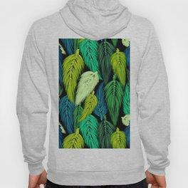 Watercolor Macrame Feather Toss in Black + Green Hoody
