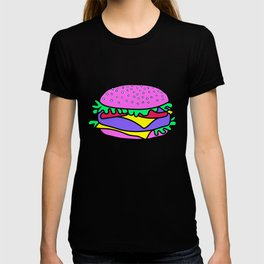 Psychedelic burger / Blue Grid T-shirt