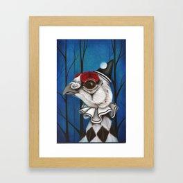Pierrot the Ptarmigan Framed Art Print
