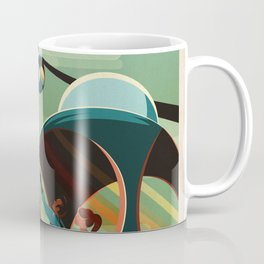 SpaceX Mars tourism poster / Olympus Mons Coffee Mug