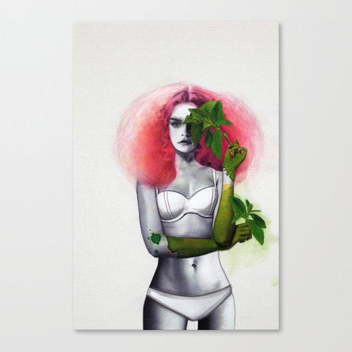 Garden Girls 3 - Mint Canvas Print
