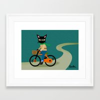 cycling Framed Art Prints featuring Cycling by BATKEI