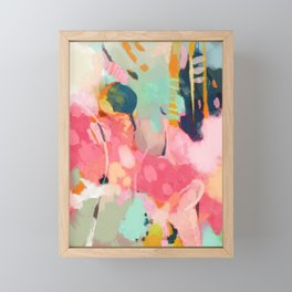 spring moon earth garden Framed Mini Art Print