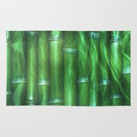 bamboo Area & Throw Rugs featuring Bamboo by Digital-Art