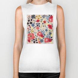 Summer Flowers - Pattern Biker Tank