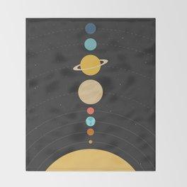 Solar System Throw Blanket