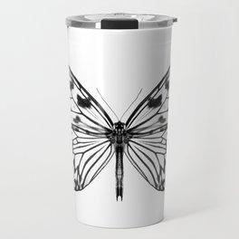 Mono Rice Paper Butterfly Travel Mug