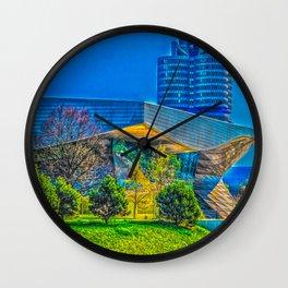 Bavarian Car Tower in Munich Wall Clock