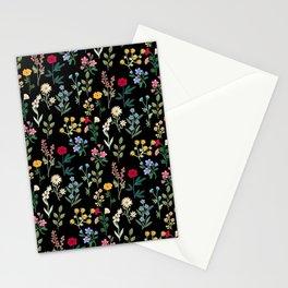 Spring Botanicals Black Stationery Cards