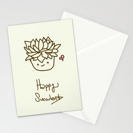 Happy Succulent Stationery Cards