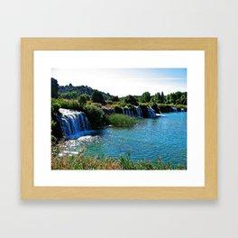 Lagoons de Ruidera Framed Art Print