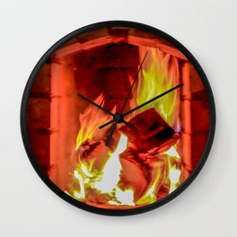 Fireplace Wall Clock