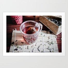 Tea moment Art Print