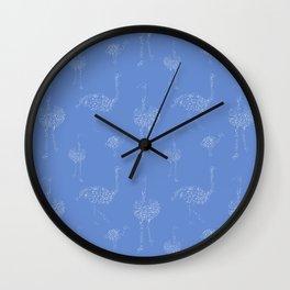 Ostrich walk  pattern Wall Clock