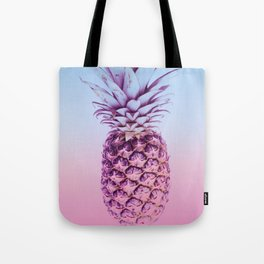 Light Blue and Pink Pineapple Tote Bag