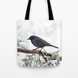 Snow Grackle Tote Bag