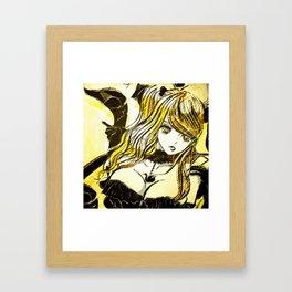 BLACK SWAN BUST ver. Framed Art Print